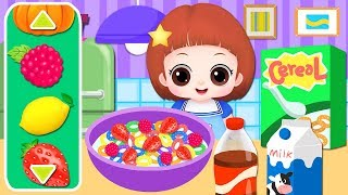 Baby Doli healthy food learning game and baby Doll cooking toys play