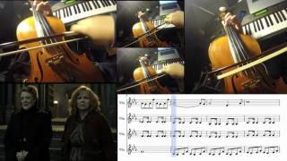 HARRY POTTER - STATUES - VIOLIN COVER w/ SHEET MUSIC