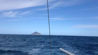 Sailing past the Wilsons Promontory lighthouse