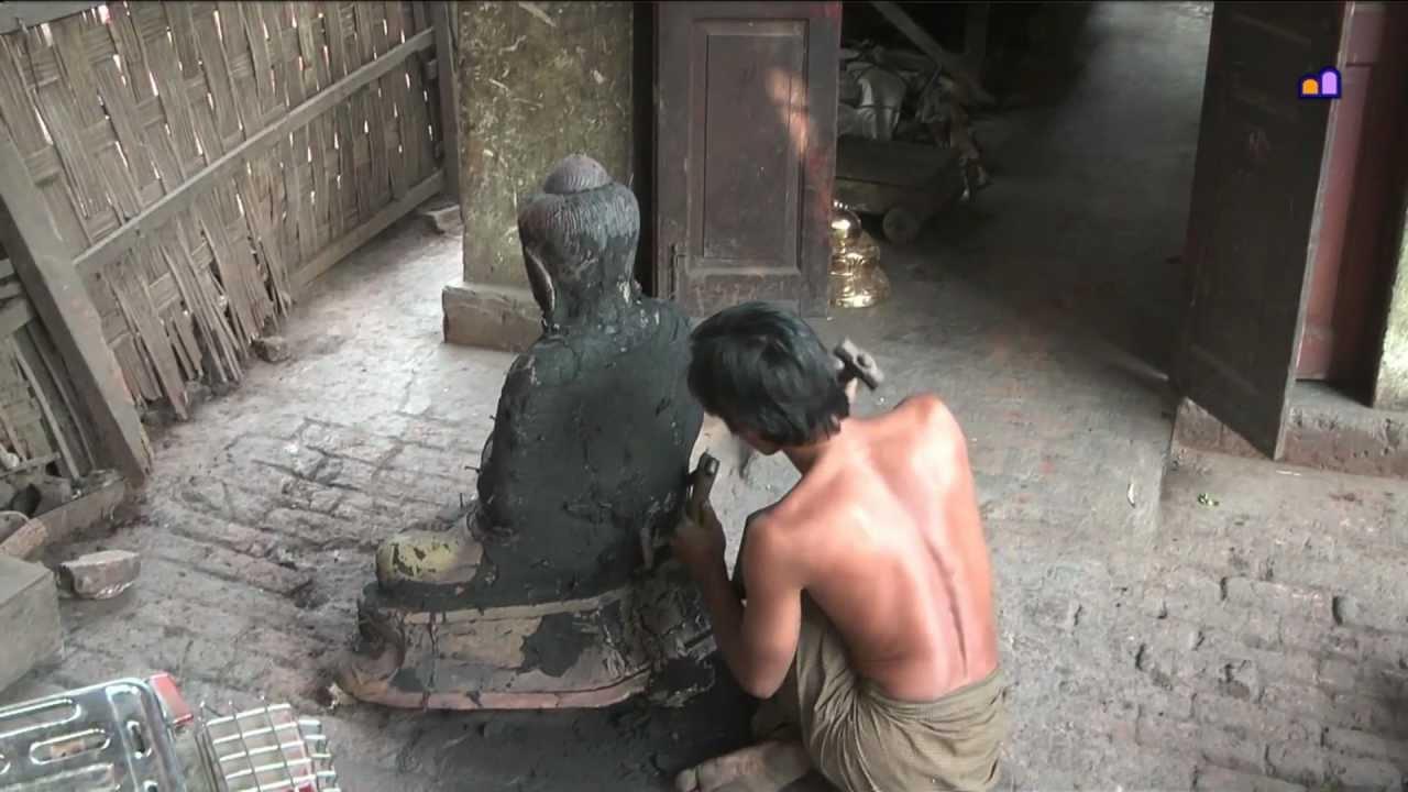 Tạo tượng Phật đá và đồng tại Myanmar