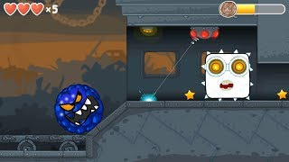 "Blue Bilberry ball & ""WHITE BOSS"" in Flawless Victory in Red Ball 4 Chapter 3 Box Factory"