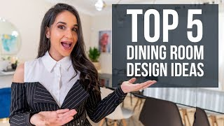 Top 5 Dining Room Interior Design Ideas | Tips And Trends For Home Decor