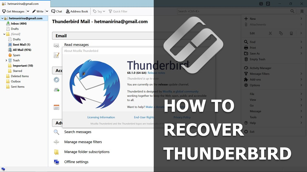 How to Recover Emails, Contacts and Profiles in Mozilla Thunderbird