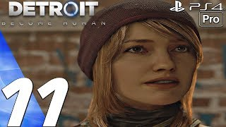 Detroit Become Human - Gameplay Walkthrough Part 11 - Capitol Park & Freedom March (PS4 PRO)