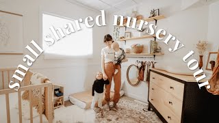 SMALL BABY & TODDLER ROOM TOUR (NO CLOSET) | WARM, BRIGHT, & NEUTRAL