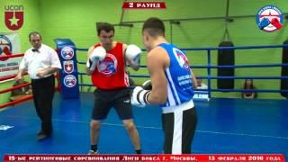 15-ые рейтинговые бои Лига бокса г. Москвы – 13.02.16 г. до 75 кг.