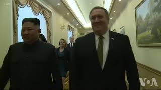 美国国务卿蓬佩奥在平壤会晤朝鲜领导人金正恩