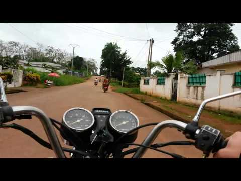 Moto ride from home to work in Bertoua, Cameroon