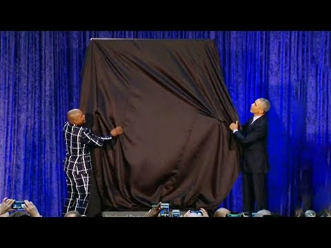 Obama unveils his new portrait