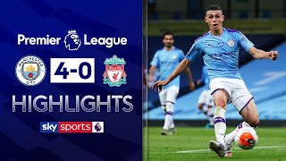 SUBSCRIBE ► http://bit.ly/SSFootballSub PREMIER LEAGUE HIGHLIGHTS ► http://bit.ly/SkySportsPLHighlights Highlights from the Premier League where Manchester City thrashed champions Liverpool 4-0, with goals from Kevin de Bruyne, Phil Foden, Raheem Sterling, and an own goal from Alex Oxlade-Chamberlain.  Watch Premier League LIVE on Sky Sports here ► http://bit.ly/WatchSkyPL ►TWITTER: https://twitter.com/skysportsfootball ►FACEBOOK: http://www.facebook.com/skysports ►WEBSITE: http://www.skysports.com/football  MORE FROM SKY SPORTS ON YOUTUBE: ►SKY SPORTS CRICKET: https://bit.ly/SubscribeSkyCricket ►SKY SPORTS BOXING: http://bit.ly/SSBoxingSub ►SOCCER AM: http://bit.ly/SoccerAMSub ►SKY SPORTS F1: http://bit.ly/SubscribeSkyF1
