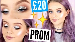 £20/$20 MAKEUP PROM EDITION - GLITTER CUT CREASE! | sophdoesnails