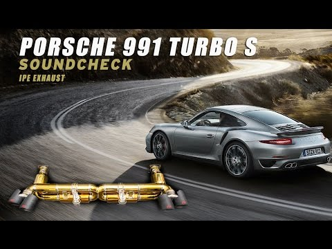 The iPE Titanium Golden Titanium Exhaust for Porsche 991 Turbo S /991.2 Turbo S