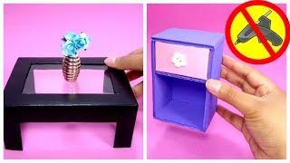 Como Hacer Una Mesa En Miniatura De Cartón | How To Make MiniatureTable With Cardboard
