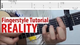 Hướng dẫn: REALITY ( Fingerstyle Guitar Tutorial + TAB) Lost Frequencies feat. Janieck Devy