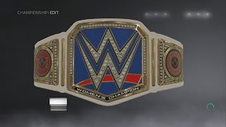 WWE 2K17 Becky Lynch WWE Smackdown Women's Championship Side Plates Creations Custom Championship