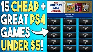 15 Super Cheap PS4 Games Under $5 Now! - PSN Holiday Sale 2018 Deals!