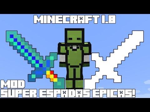 Minecraft 1.8 MOD SUPER ESPADAS ÉPICAS! Swords++ Mod Review Español!