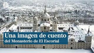 Una imagen de cuento del Monasterio de El Escorial desde el cielo