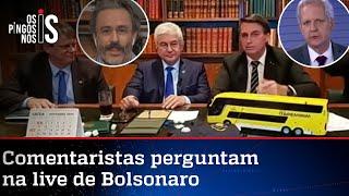 EXCLUSIVO: Entrevista durante a live de Jair Bolsonaro desta quinta-feira, 22