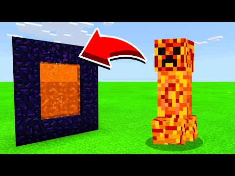 How To Make A Portal To THE FIRE CREEPER Dimension in Minecaft Pocket Edition/MCPE