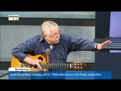 Wolf Biermann am 7. 11. 2014 im Deutschen Bundestag