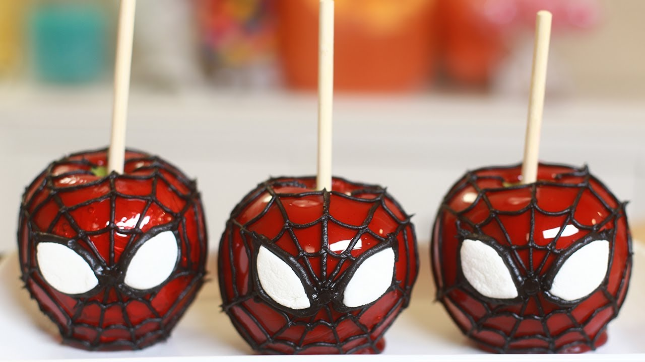 SPIDERMAN CANDY APPLES - NERDY NUMMIES thumbnail