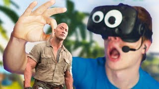 JUMANJI IN VR - I'VE GOT A MINI ROCK!! (Jumanji VR with The Rock - HTC Vive)