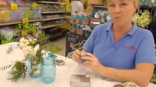 Crankin Out Crafts -ep271 Heritage Blue Mason Jar - Firefly Centerpiece