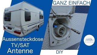 TV SAT Aussensteckdose für den Wohnwagen | DIY | für Camping SAT Schüssel