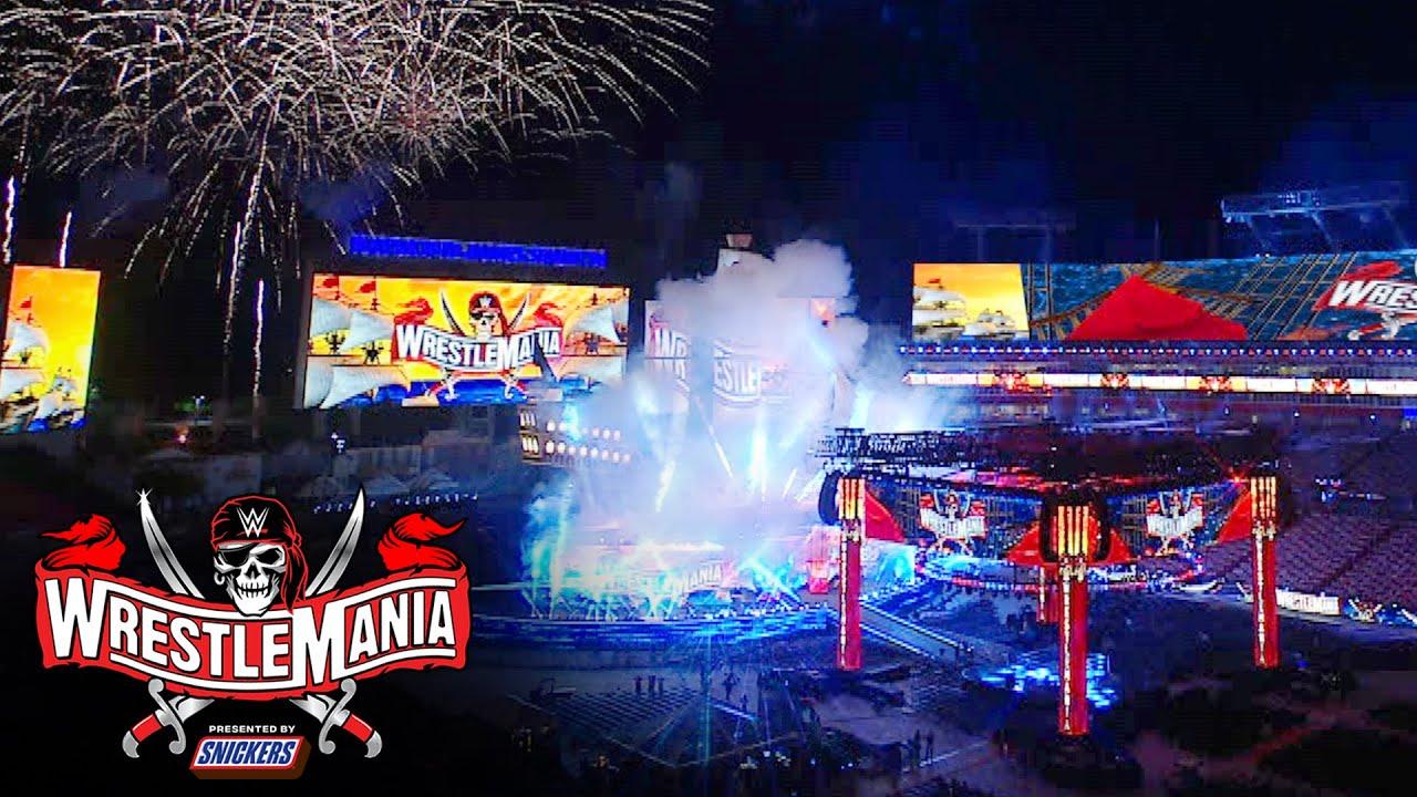 Video: Corey Graves, Kayla Braxton Unveil WrestleMania 37 Stage