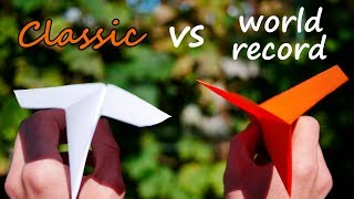 How to Fold the World Record Paper Airplane | Classic vs World Record Airplane