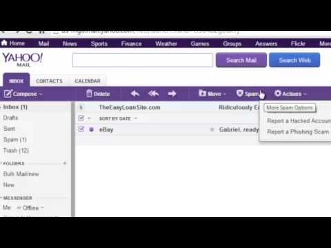 How to Make the Yahoo! Spam Filter Work : Internet Help & Basics