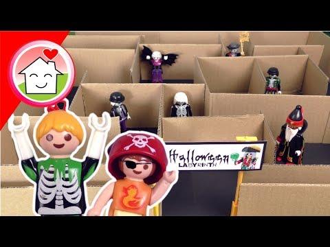 Playmobil Film Familie Hauser im Halloween Labyrinth - Video für Kinder