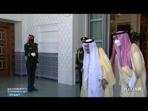 خادم الحرمين يستقبل جلالة سلطان عُمان ويعقدان جلسة مباحثات رسمية