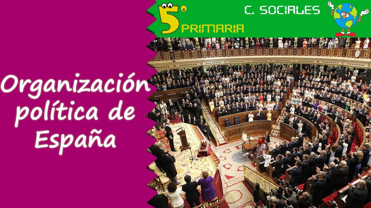 Organización política de España. Sociales, 5º Primaria. Tema 4