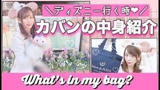 【ディズニー編】バッグの中身紹介✨DisneySea🐭🏰❤︎【What's In My Bag?】
