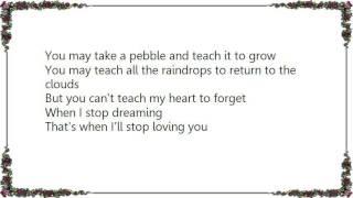 Charlie Louvin - When I Stop Dreaming Lyrics