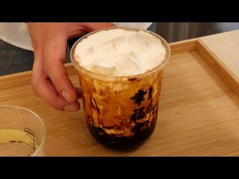 brown sugar bubble milk 타피오카펄을 직접 만드는 흑당 버블 우유 / korean street food