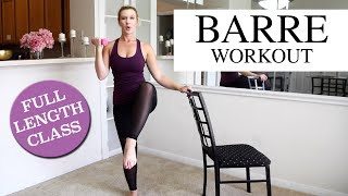 Full Length: Total Body BARRE Workout by SummerGirl Fitness