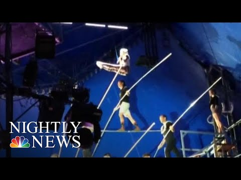 New Video Shows Near-Deadly High Wire Accident That Could Have Killed 8 People | NBC Nightly News