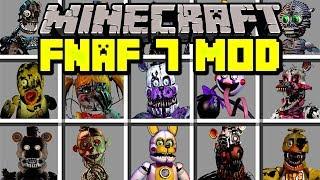 Minecraft FNAF 7 MOD! | RUN FROM NEW FIVE NIGHTS AT FREDDY