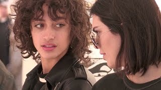 EXCLUSIVE - Kendall Jenner and Alanna Arrington on a shopping spree in Paris