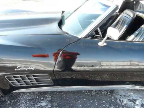 1971 Black Black Corvette Stingray 4spd Video