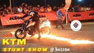 KTM Stunt Show @ MCE Hassan || Duke 250 And RC 200 || Team Throttlerz