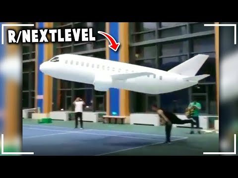 r/NextLevel | The Largest PAPER Airplane *World Record*