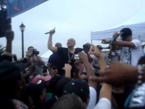P-MONEY PT CARIBBEAN TV @ BRONX FLAVOR SEEING FAT JOE ON THE STAGE HOLDING DOWN THE BRONX