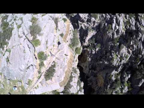 A bird's-eye view of El Caminito del Rey Path