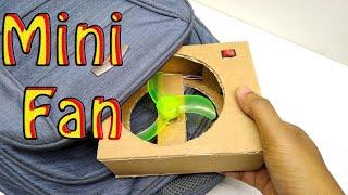 How to make a portable Mini Fan   DIY Mini Fan at home   Electric Fan