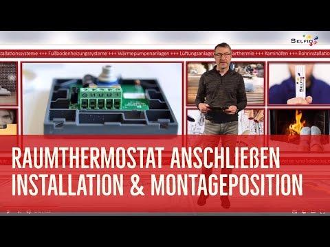Raumthermostat anschließen / Thermostat montieren
