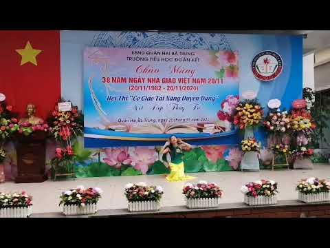 Tiết mục dự thi Cô giáo tài năng duyên dáng của cô giáo Nguyễn Thị Liễu
